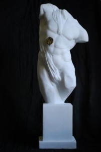 Jonas Eideloth - Time III- Marble with clockwork, 52 cm height - 6,300 €